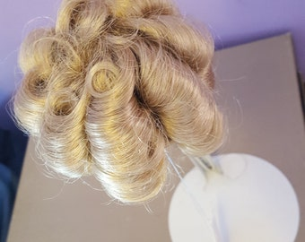 FINAL SALE-Beautiful Vintage Doll Wig Honey Color Size: 7 Ringlet Style