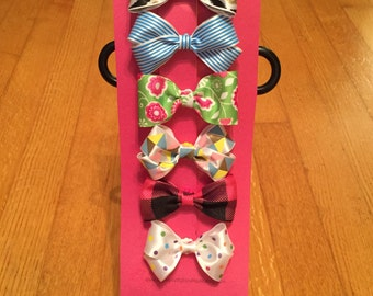 6 Pack of Dog Hair Bows