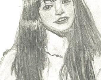 Graphite Girl Portrait
