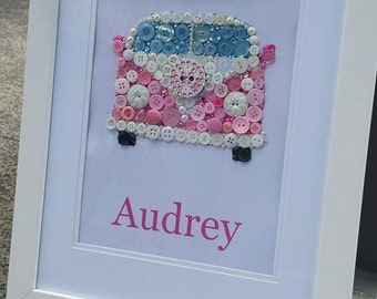 Coral Combi, super cute in pink to make the perfect addition to any girls bedroom.  Personalised and made to order.