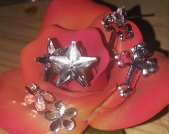 crystal gem earrings