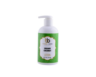 Bubbles and Butter Lotion, CREAMY COCONUT, 8 OZ