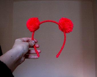 Mini pink Pom Pom headband