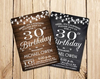 Surprise 30th birthday invitations gangcraft surprise th birthday invitation etsy birthday invitations filmwisefo