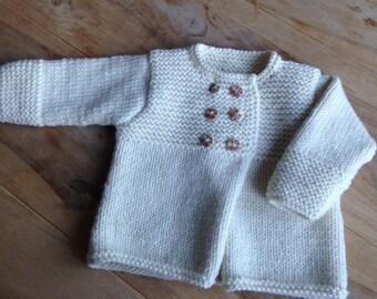 Baby jacket, baby jacket, 68-74, creamy white
