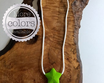 Star Pendant Chewable Necklace for Kids - perfect for sensory needs and as an occupational therapy tool