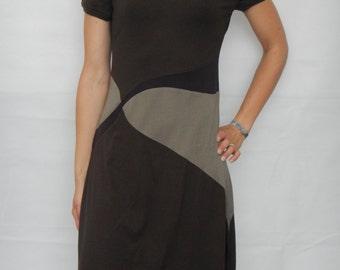 Jersey dress with asymmetric usage, summer dress