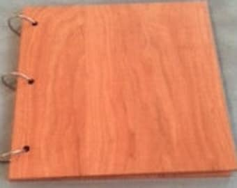 Wood covers for photo albums, portfolio's, wedding guest books,