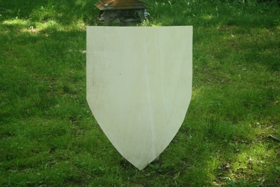 how to make a curved wooden shield