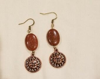 Sandstone Sun Earrings