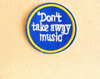 Music Patch - Iron on patch -Sew On patch - Embroidered Patch (Size 6.8cm x 6.8cm)