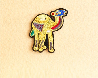 Camel Patches  - Iron on patch -Sew On patch - Embroidered Patch (Size 5.4cm x 5cm)