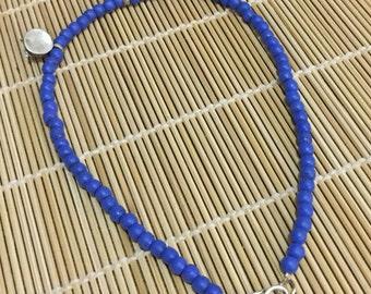 Lapis lazuli with Ethiopian prayer beads necklace.