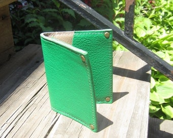 The Daye Mini Wallet in Green Italian Leather