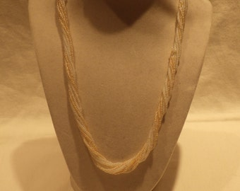 Vintage Beaded Twist Necklace