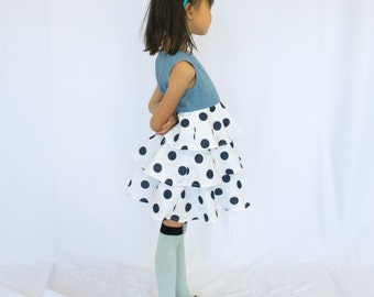 Sailing Dalmatian Ruffles Dress
