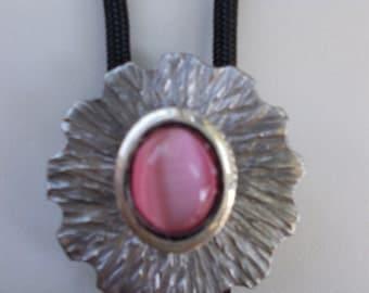 Women's bolo, pink moonstone