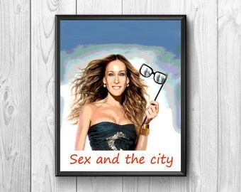 Sex and the City, Sex and the City poster, sex and the city print, TV series, wall poster