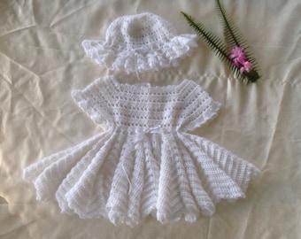 Baby girl handmade crochet outfit 3-6 months