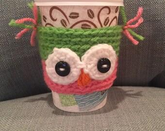 Crochet Owl Coffee Cozy | Cup Cozy | Koozy