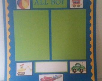 Premade Scrapbook Page -All Boy