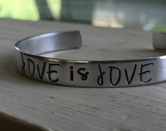 Gay Pride Bracelets - Silver - Gay Pride - Love is Love