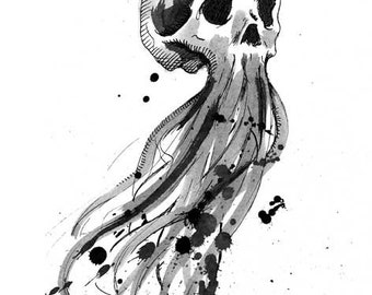 Floating Skull Digital Print