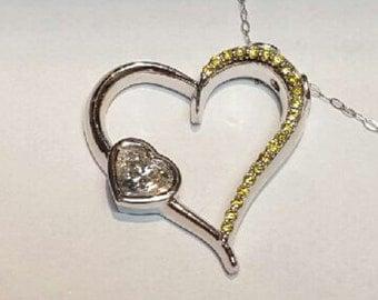 Diamond Heart Shaped Necklace