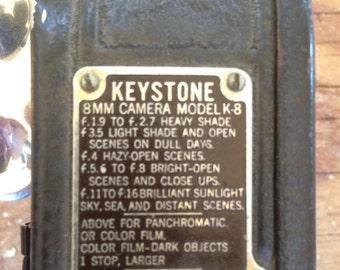 Vintage 1936 Keystone K-8 8mm Film Camera