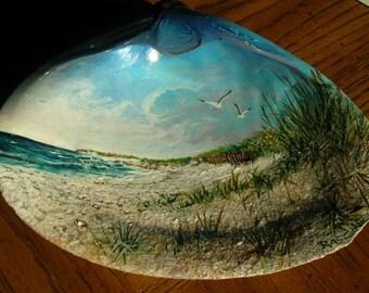 Ocean Painted Seashell - Seaside - Coastal Scene 2