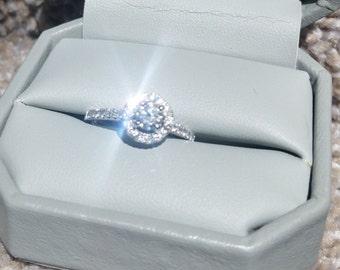 Brilliant Halo Diamond Engagement Ring