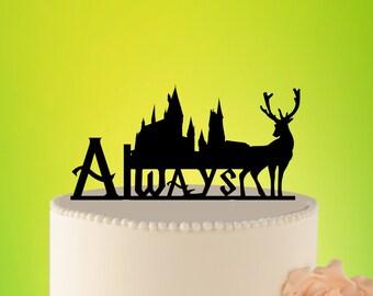 Always Wedding Cake Topper, Harry potter wedding cake topper, Always topper, HARRY POTTER wedding cake decoration, Harry potter L2-01-014