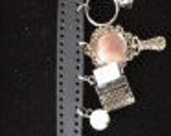 Black Band Charm Bracelet