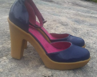 AOUGE patent leather mary jane