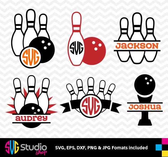 Bowling Svg Files Silhouette Die Cut Vinyl Cutter
