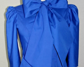 Bow Blouse with Large Bow Tie