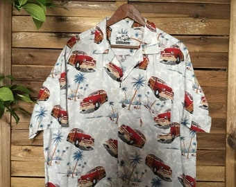 Camica Hawaiana Rockabilly Coches Vintage Hawaiian Shirt Palmeras Pineapple Connection