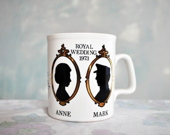Vintage (1973) Royal Wedding Mug
