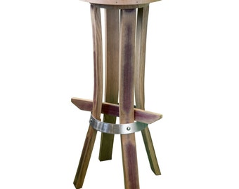 "Bar stool ""Tastevin"" color wine"