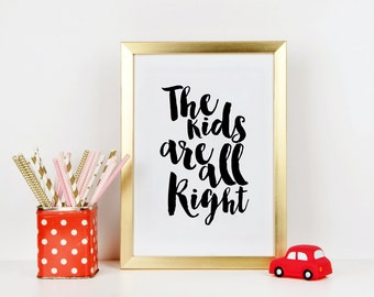 NURSERY WALL ART, Kids Room Decor, Kids Gift, Funny Print,Children Wall Decor,Quote Prints,Quote Printable, Nursery Decor,Typography Poster