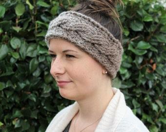 Headband / Ear Warmer Ombre Crochet Cable Twist