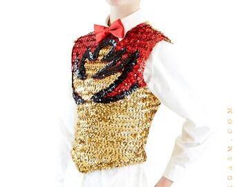 NEORGASM Sequins Vest Vintage Sweater Vest