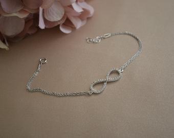 Infinity Sterling Silver Bracelet