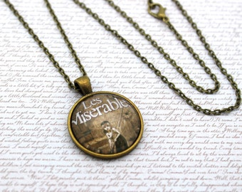 Les Misérables, Victor Hugo, Les Mis, Les Miz, Book Cover, Book Necklace or Keychain, Keyring