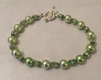 Green Apple Glitter Bracelet