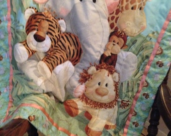 Crochet Safari Animals Baby Blanket