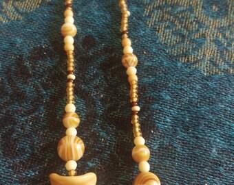Sandy Beach beaded necklace