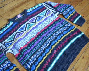 Vintage 90s Coogi-Style Fall 'Cosby' Sweater (Not Coogi)