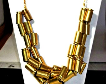 Bullet Jewelry- 45 Bullet Ribbon Necklace