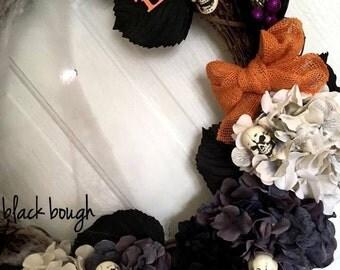 Halloween Wreath, Halloween Decor, Halloween costume, Halloween Skulls, Zombie Wreath, Home Decor, Halloween Decoration, Halloween Party